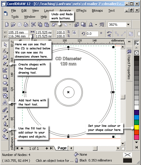 Corel Draw Tools